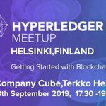 Image for the Tweet beginning: The first Hyperledger meetup in