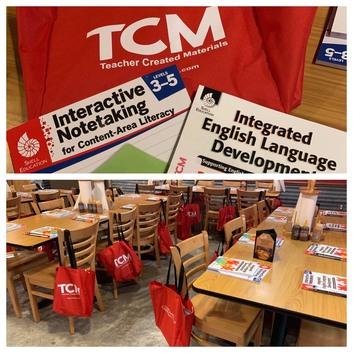 Stage is set for a great #LunchAndLearn meeting in #SouthTexas #RGV with #edleaders They are in for some yummy #barbecue and #professionaldevelopment books! #mytcm <br>http://pic.twitter.com/430b4RlgWG