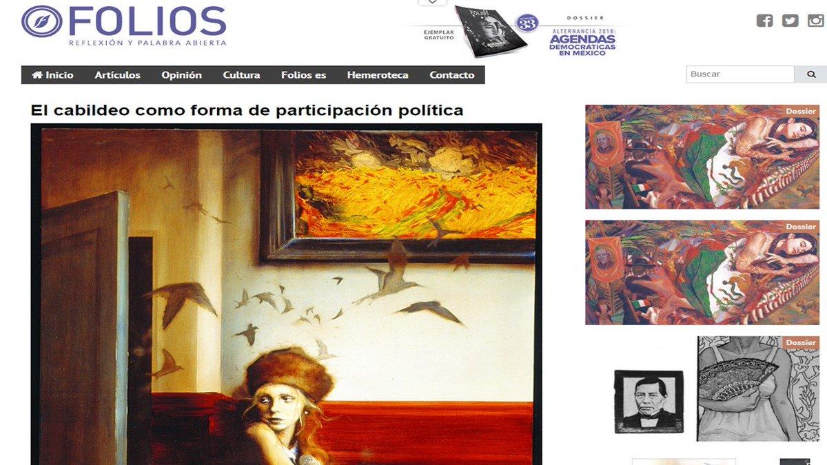 Sobre el #CabildeoCiudadano escribí hace tiempo en  @RevistaFolios  del @iepcjalisco. Aquí les dejo la lista por si quieren echarle un ojo: https://t.co/YO17iWVtIe https://t.co/n6pM4qjXvj