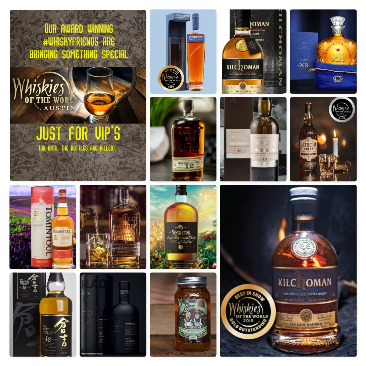 Just a few of our #whiskyfriends who will be coming to #wowaus just to meet you.  #whiskiesoftheworld #wowaus #whisky #scotch #scotchwhisky #whiskey #bourbon #singlemalt #singlegrain #blendedmalt #blendedscotch #blendedgrain #whiskyfriends<br>http://pic.twitter.com/TJ3tQuntY0