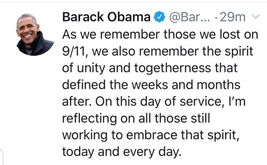 When it comes to commemorating 9/11 #ObamaOutdidTrump <br>http://pic.twitter.com/DrjAJ8ALYU