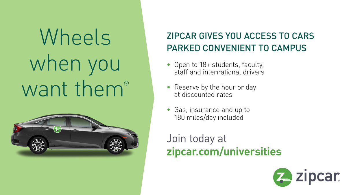 Cancel Zipcar Membership >> Tu Parking Transp On Twitter Zipcars Are Located On