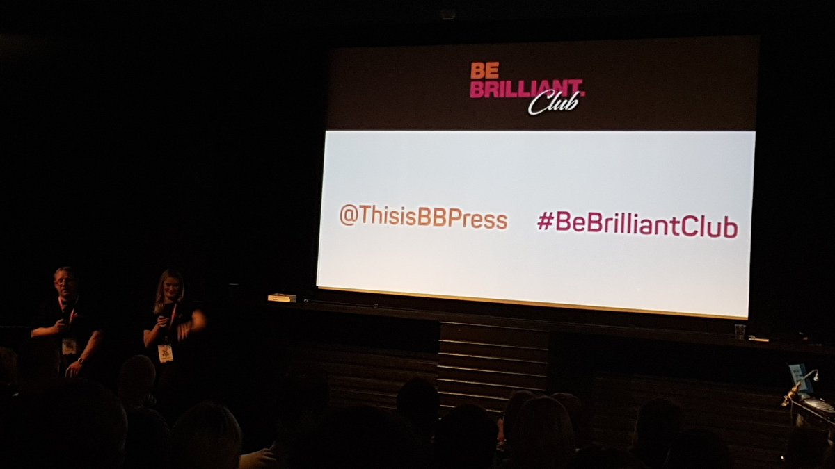 Our MD Tim Cox supporting another great client at the BrBrilliantClub #bebrilliantclub