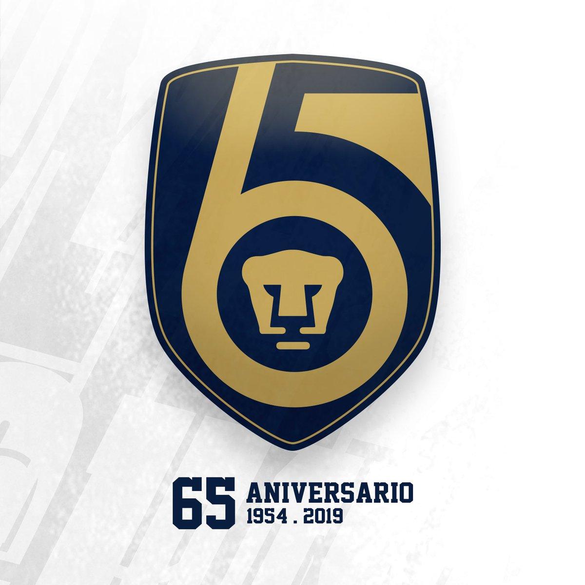 65 años de entrega, de pasión y de portar con orgullo el azul y oro. ¡Gracias a todos los que han formado parte de nuestra gran historia!  ¡México, Pumas, Universidad! ¡Goya!  #Pumas65 #SoyDePumas https://t.co/vcd31uAeHg
