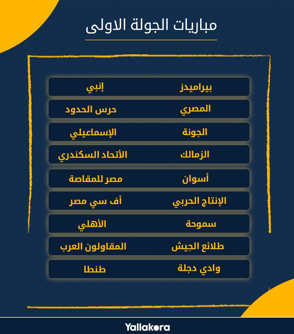 يلاكورة جدول مباريات الجولة الأولى من الدوري الممتاز موسم 2019
