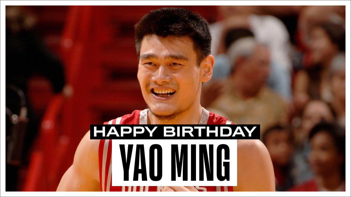 Join us in wishing a Happy 39th Birthday to 8x #NBAAllStar, 5x All-NBA & @Hoophall inductee, @YaoMing! #NBABDAY