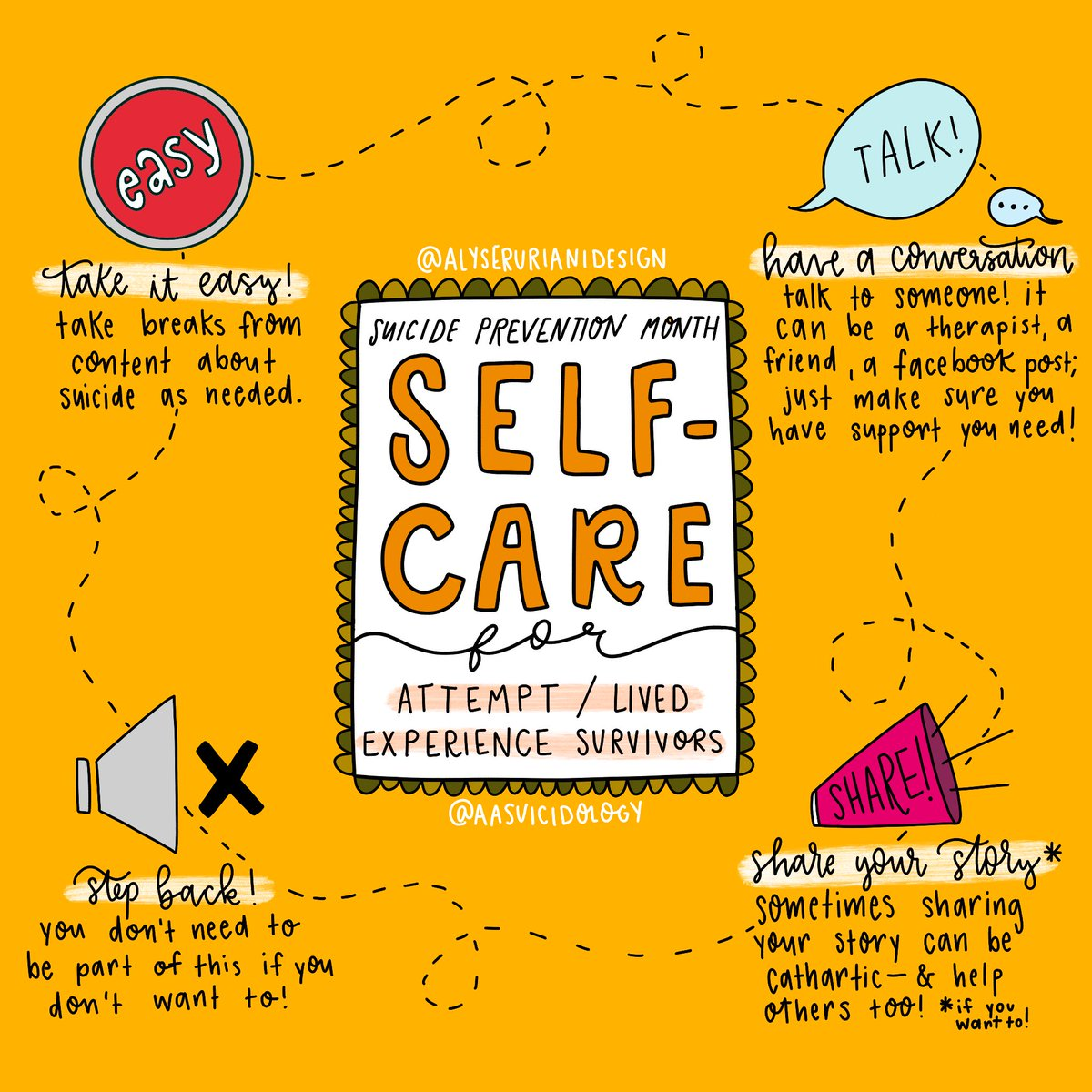 Suicide prevention month can be as exhausting as it is inspiring. Just a reminder to take care of yourself. #AAS365 #SPM19 @esylarur https://t.co/op05l6Bu2x