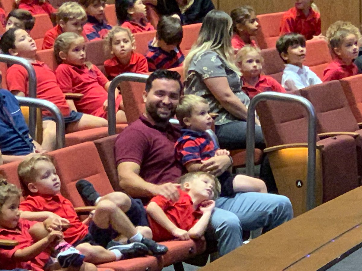 When you are 3, sitting through an assembly can be tough, unless you have Rueben C. For a teacher @OfficialMCDS