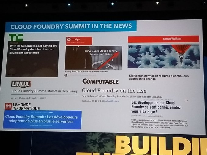 We are proud to be building the future with #CFoundry #CFSummit and congrats to...