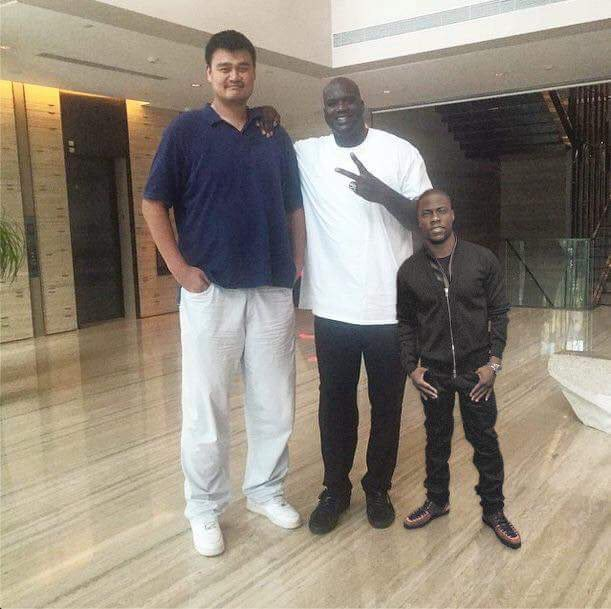 An iconic photo Happy Birthday to the legend Yao Ming.