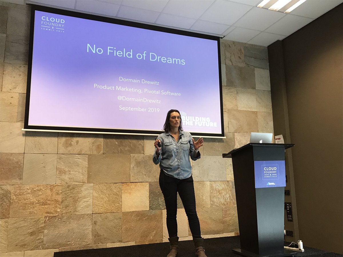 It's no coincidence that the most successful @pivotal customers also market their Pivotal Platform internally. Doing so drives developer adoption and fuels transformation. @DormainDrewitz is sharing her top tips on taking your platform beyond the early adopters. #CFSummit <br>http://pic.twitter.com/P52KsPddfU