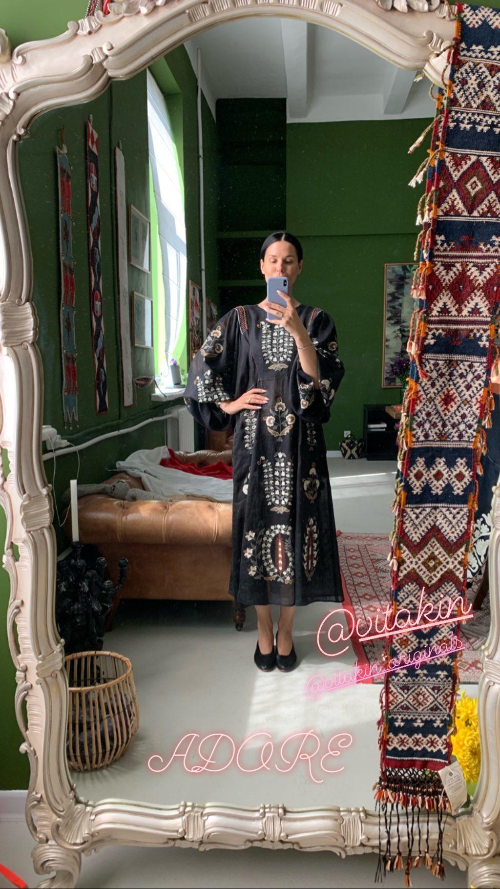 Маша Ефросинина в платье Vita Kin