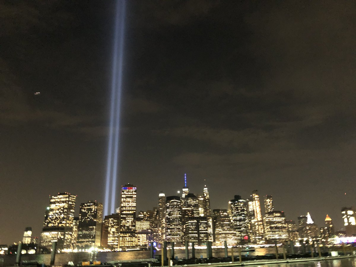 The 11th September Tribute Lights!  #11sep #nyc<br>http://pic.twitter.com/yP2PIDnKsU