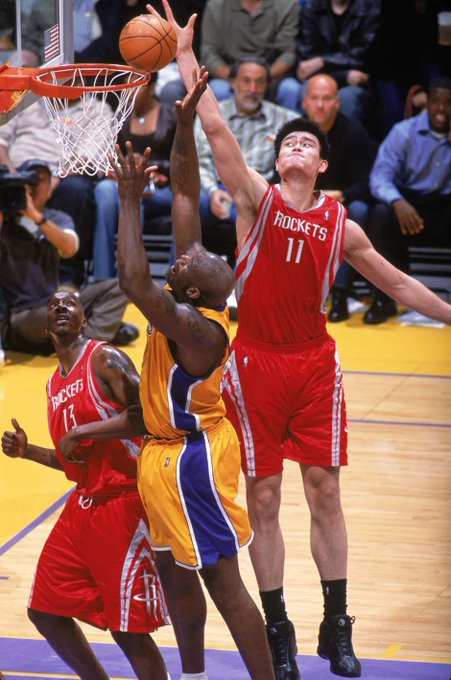 Happy birthday, Yao Ming! You were the first Asian to really battle Shaq, and for that, I thank you.
