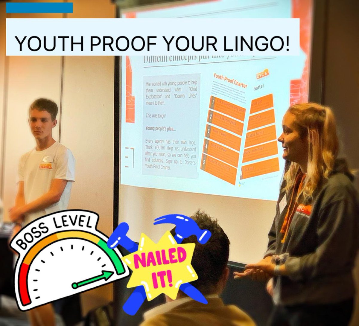 We hear this time and time again from young people - their plea to every professional that works with them - YOUTH PROOF YOUR LINGO! Stasia enrolling the Teenagers at Risk conference participants in Bournemouth today in exactly that!   #wiseup #youthvoice #professional<br>http://pic.twitter.com/jjCodR6cFu
