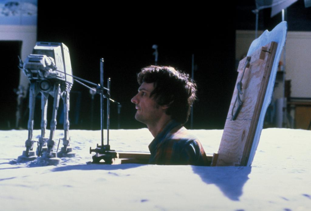 Special effects artist Jon Berg animates an Imperial AT-AT frame by frame in this behind-the-scenes image from #TheEmpireStrikesBack.