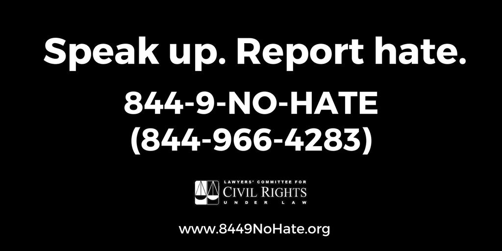 We receive calls to our 844-9-NO-HATE hotline and hear directly from targeted communities.  We hear fear, trauma, and pain.   We also hear courage, strength, and resilience.  Every day we see first hand that LOVE > Hate.   #LoveIsGreaterThanHate cc:@StopHateProj https://t.co/cLjF72cCrd