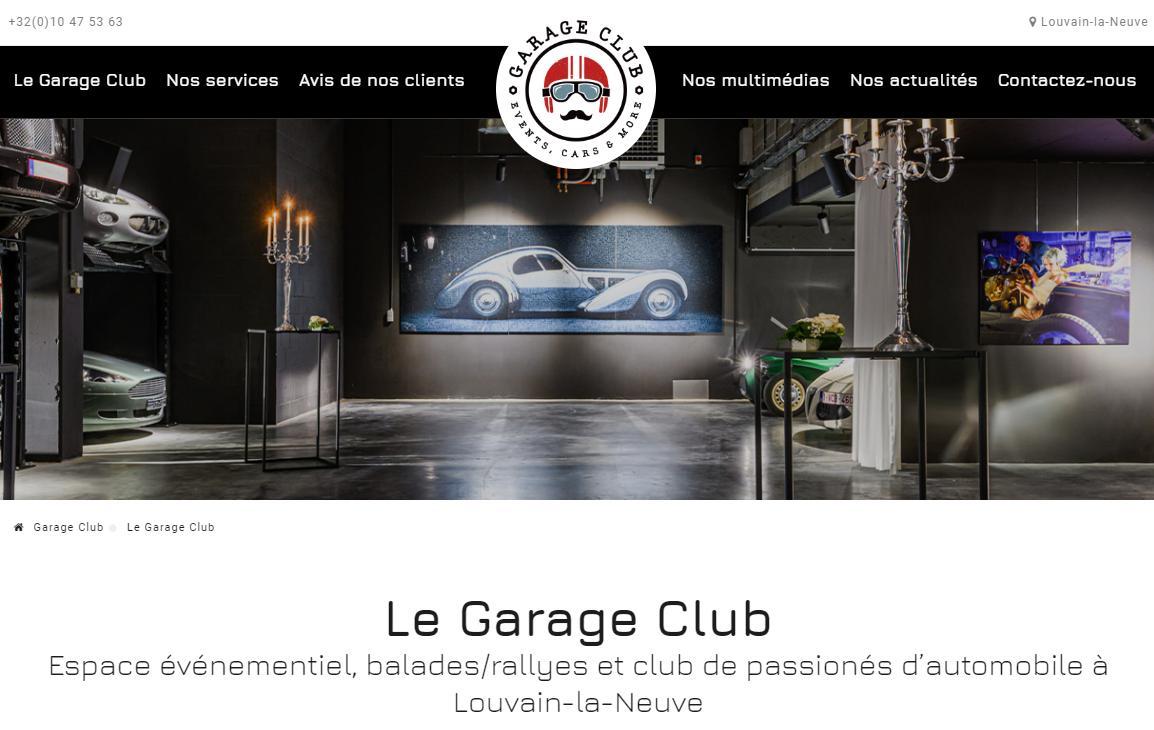 Il vrombit à toute vitesse  Le nouveau site #GarageClub https://www.garage-club.be/ vient de sortir ! pic.twitter.com/HfkrdP0Qg4