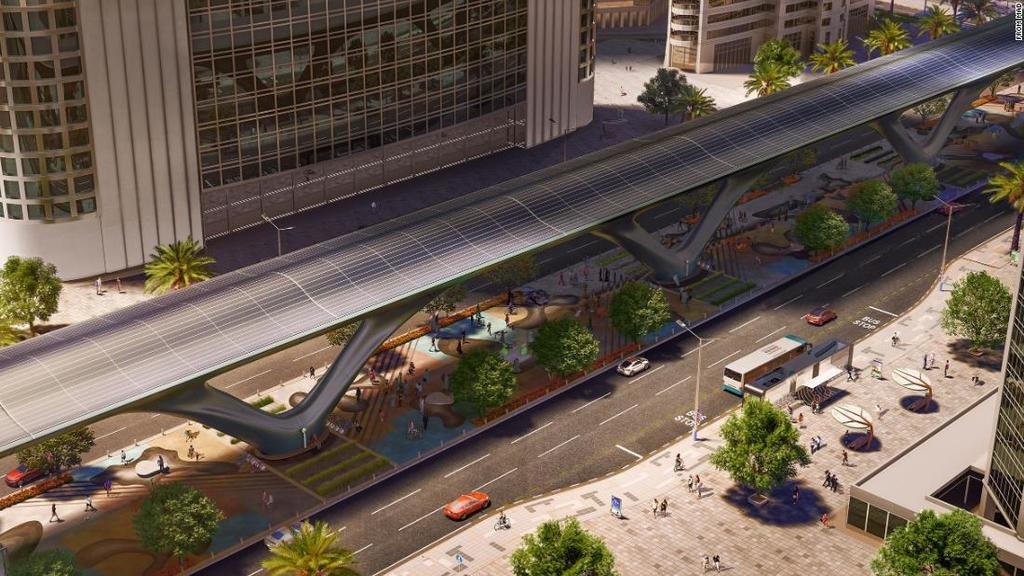 An eco-friendly version of the Hyperloop network is in the works, powered by a skin of solar-powered modules and wind turbine forests, and complete with parks and urban farming spaces. https://ift.tt/2I0OPnp