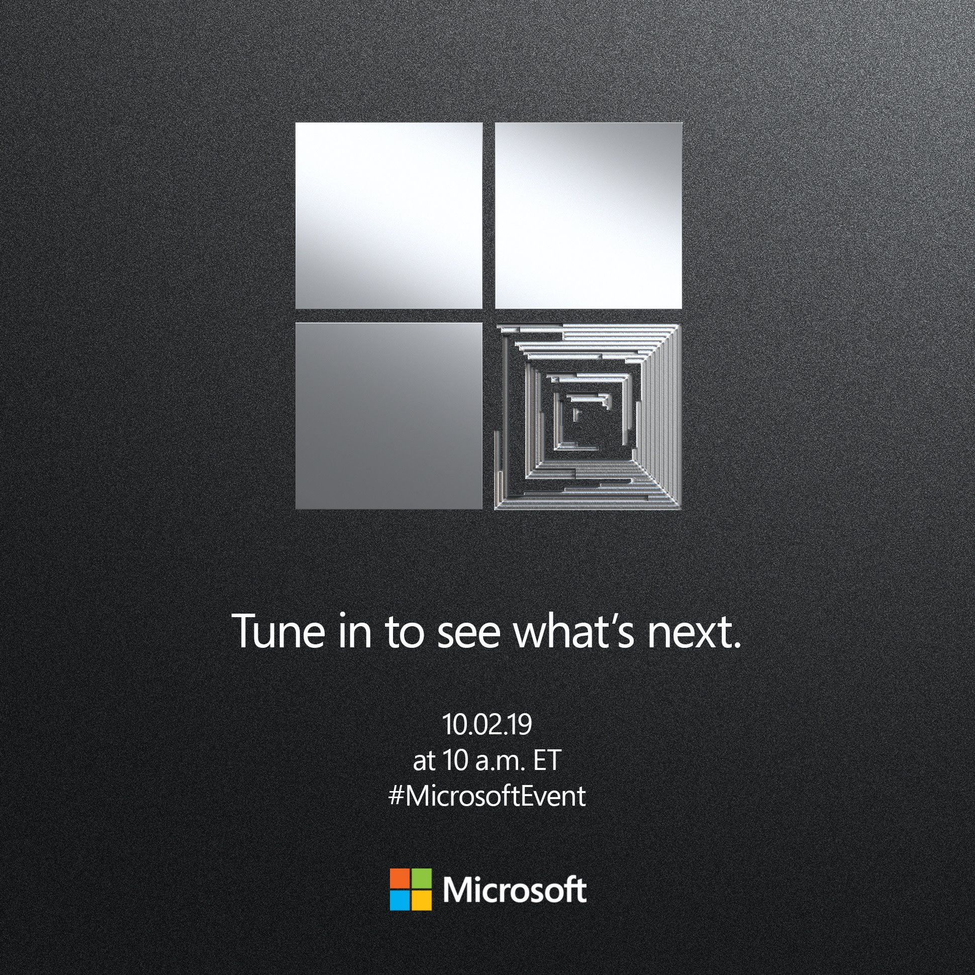 See what's next. Live stream the #MicrosoftEvent right here on Twitter 10.2, 10am ET.