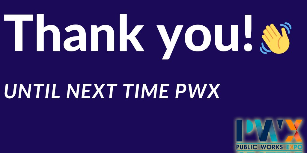 Thank you so much #PWX and Seattle! We loved meeting you and learning about the future of public works at this year's Washington State Chapter #AWPA event! https://t.co/gmWeP7yHIf