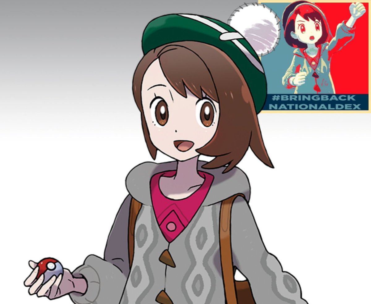 Alex On Twitter Hello This Is Gloria The Female Protagonist Of Pokemon Sword Shield Gloria Asks That You Please Stop Using Her As The Face Of Bringbacknationaldex As She Finds One afternoon, four notable pokemon gather for a girl's day in the hulbury stadium. sword shield gloria asks