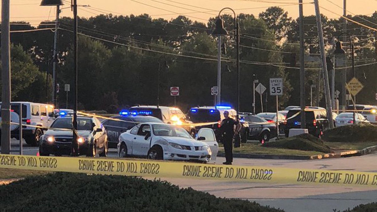 A DeKalb cop opened fire after police say a driver smashed into his patrol car. 2wsb.tv/2O0jrt9