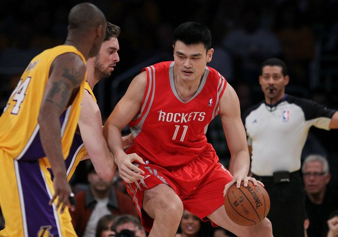 Happy Birthday Yao Ming!! The 8 time NBA All-Star turns 39 today. What is your favorite Yao Ming moment??