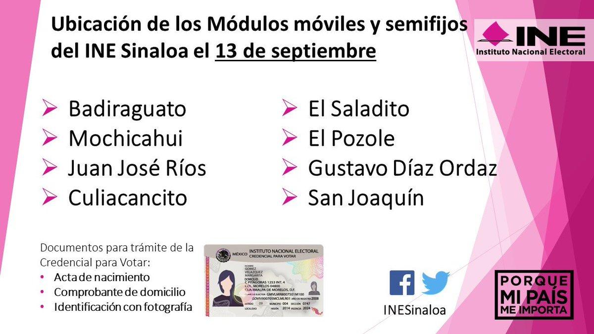 Ine Sinaloa On Twitter Estas Serán Las