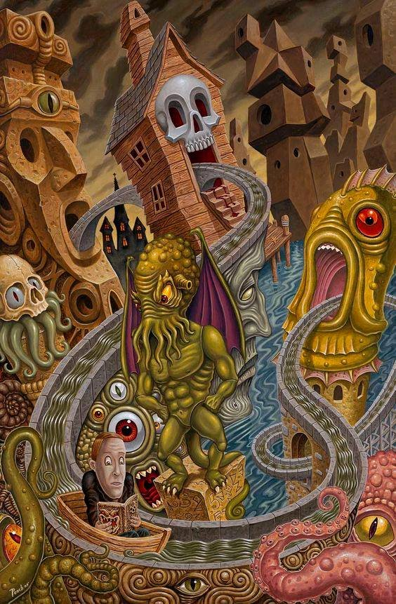 🦑Cthulhu, Howard Phillips Lovecraft visit Pee Wee Playhouse - the show got cancelled before this episode could air🎨Michael Pucciarelli🦑#Lovecraftian #Mythos #PeeWeeHerman #Parody
