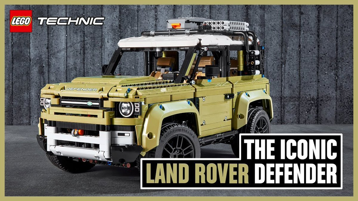 Este es el nuevo Land Rover Defender… ¡Hecho con LEGO!