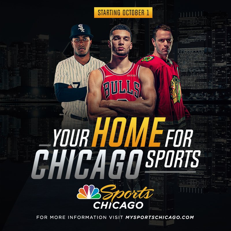 Remember: Starting October 1, NBC Sports Chicago is the only place you can watch the Bulls, Blackhawks and White Sox.   For more info: http://mysportschicago.com