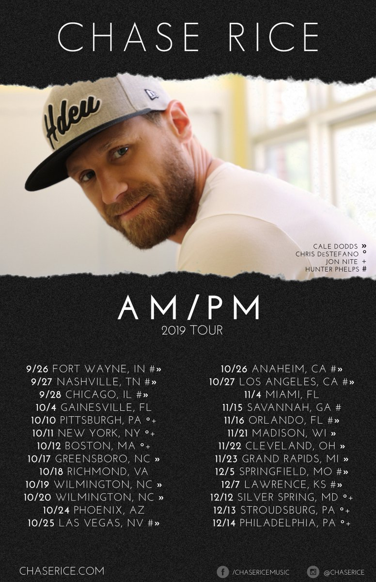 Chase Rice On Twitter New Shows Are On Sale The Am Pm