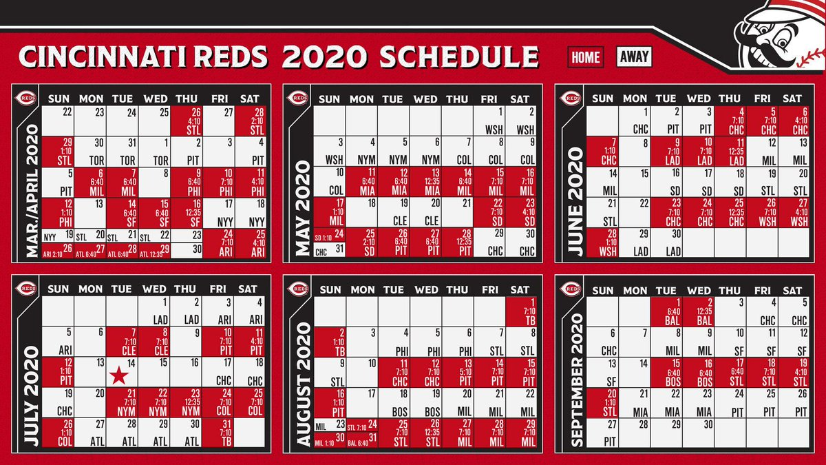 image about Cincinnati Reds Printable Schedule titled Cincinnati Reds upon Twitter: \
