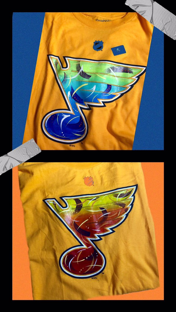 We love art! Check out these bright colors and awesome designs from Art by Seals. Plus, who doesn't want to keep celebrating the St Louis Blues? You can find this awesome artist and more at the South Grand Fall Fest on Saturday, September 21. facebook.com/events/3902767…
