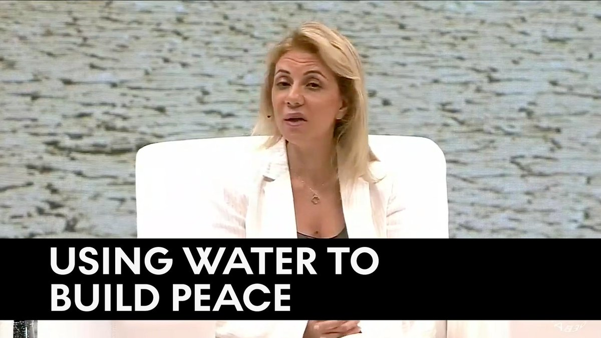 Jordanian Director of @EcoPeaceME  Yana Abu Taleb explains how solving water issues is key to peace building in the Middle East: