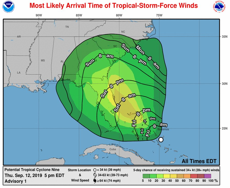 Bahamas issues tropical storm warning as disturbance nears area hit by Hurricane Dorian