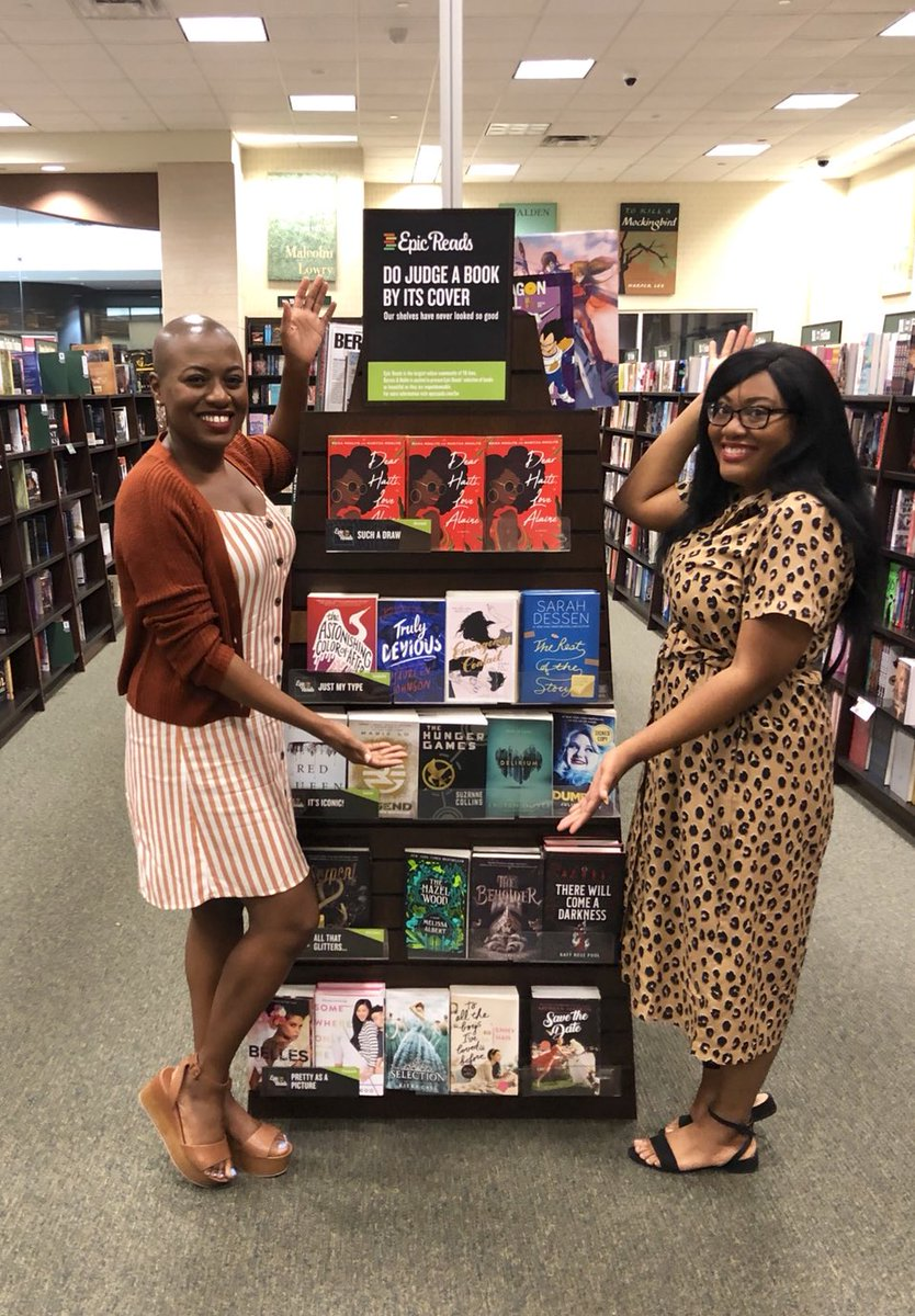 """Dallas was esp great b/c @maritzamoulite & I got to see #DearHaitiLoveAlaine on the """"DO Judge A Book by its Cover"""" display at @BNStonebriar! DHLA will be included in this campaign at ~600 @BNBuzz stores until Sept. And a special thanks to @hafsahfaizal for being in convo w/ us!"""