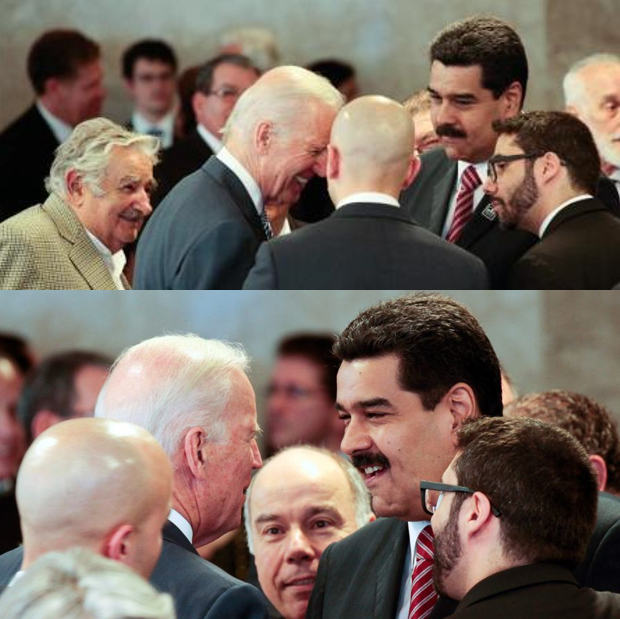"Joe Biden just claimed he ""confronted"" Maduro. This ... doesn't look like a confrontation. #DemDebate<br>http://pic.twitter.com/VEOwv4RIhK"