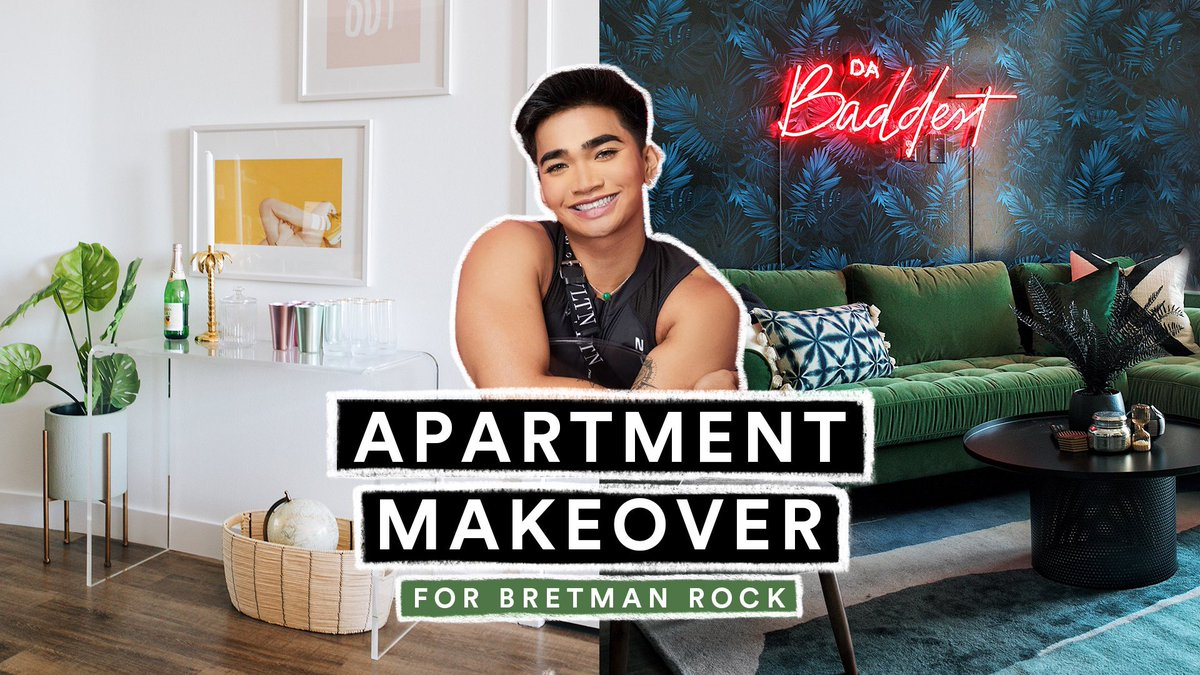 OMG! IF you haven't seen today's new video where I makeover @bretmanrock LA apartment, then IDK what you are doing... youtu.be/D2EhK0I1ktQ