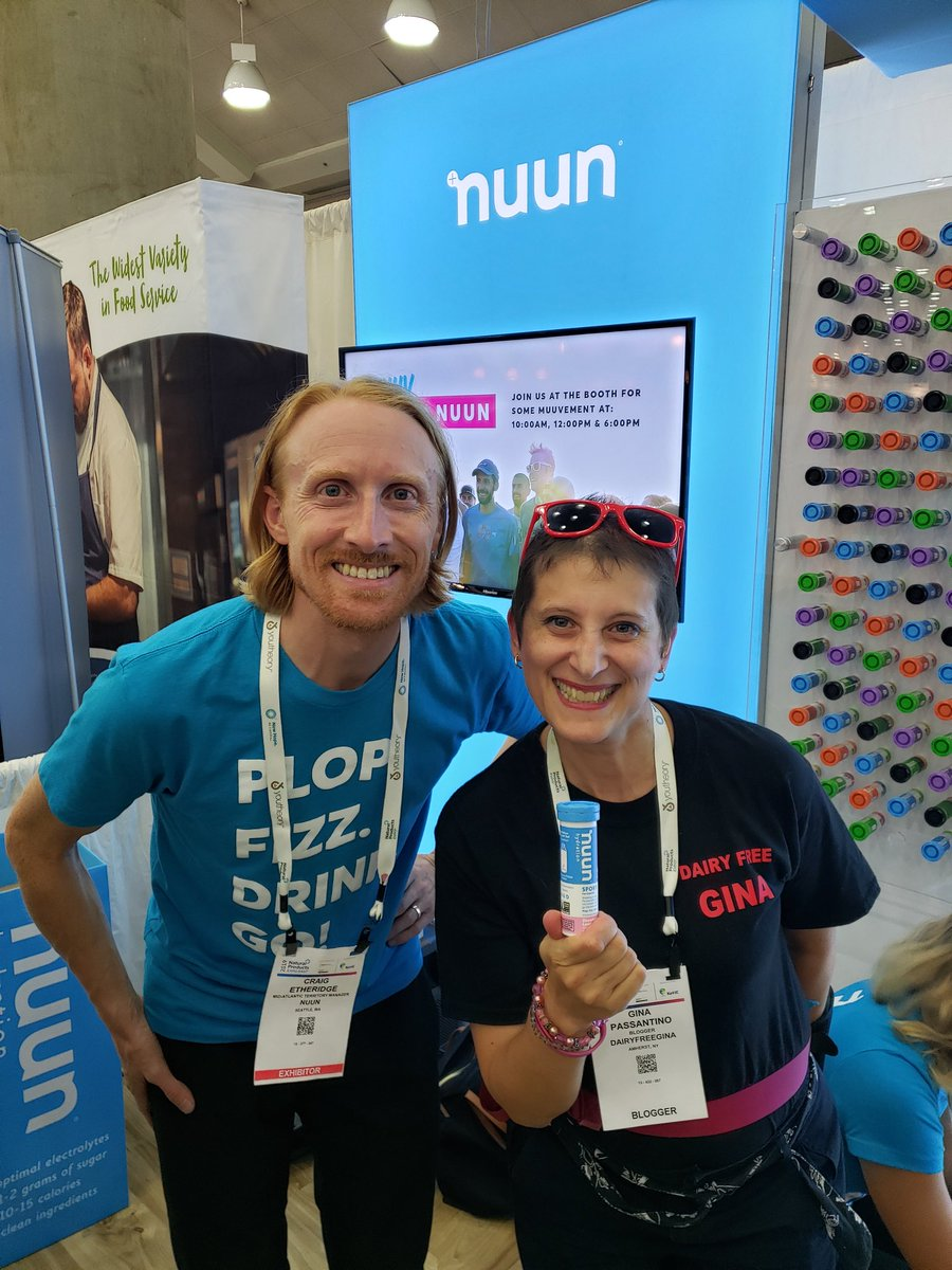 Love being a Brand Ambassador for @nuunhydration and LOVED hanging with Team Nuun today at #ExpoEast!  #BrandAmbassador #NuunAmbassador #TeamNuun #Vegan #VeganAthlete #Runner #Dancer #StayHydrated #ExpoEast19 #ExpoEastBlogger #DairyFreeGina <br>http://pic.twitter.com/gpr5MulxJE