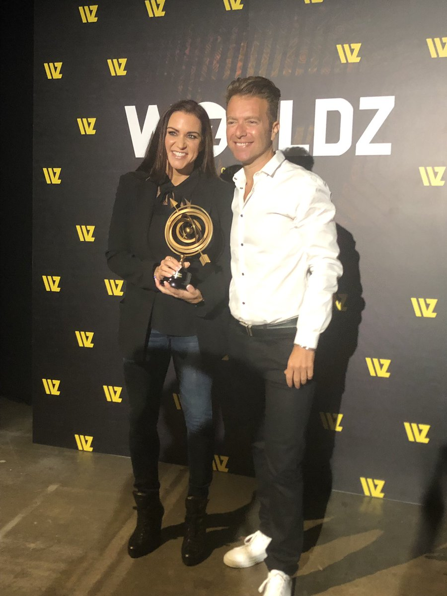 It is an honor to have received the @worldztribe Titan Award! Thank you @romantsun for the platform to talk about @WWE's #WomensEvolution and the work we all still have to do for women in sports! #Worldz2019