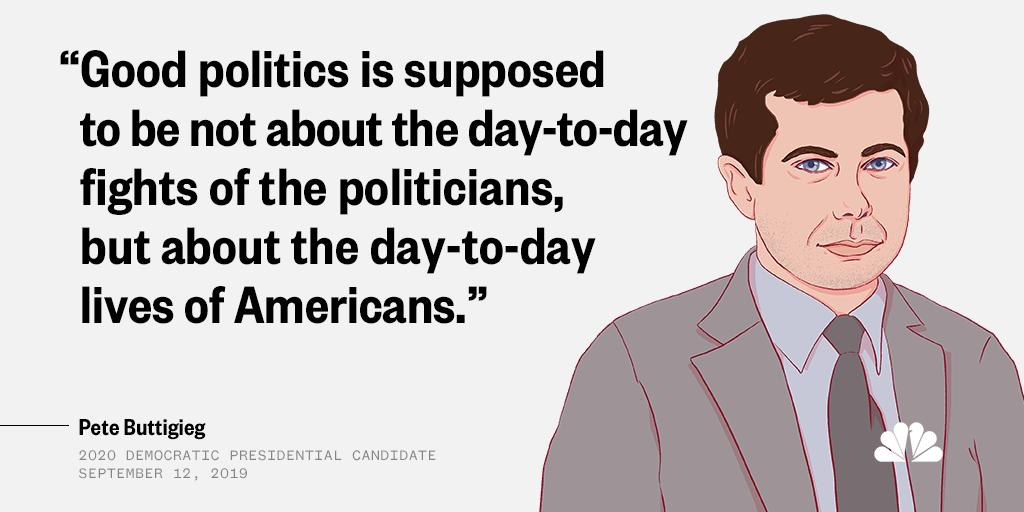 Quotes from the #DemDebate --> this one from @PeteButtigieg