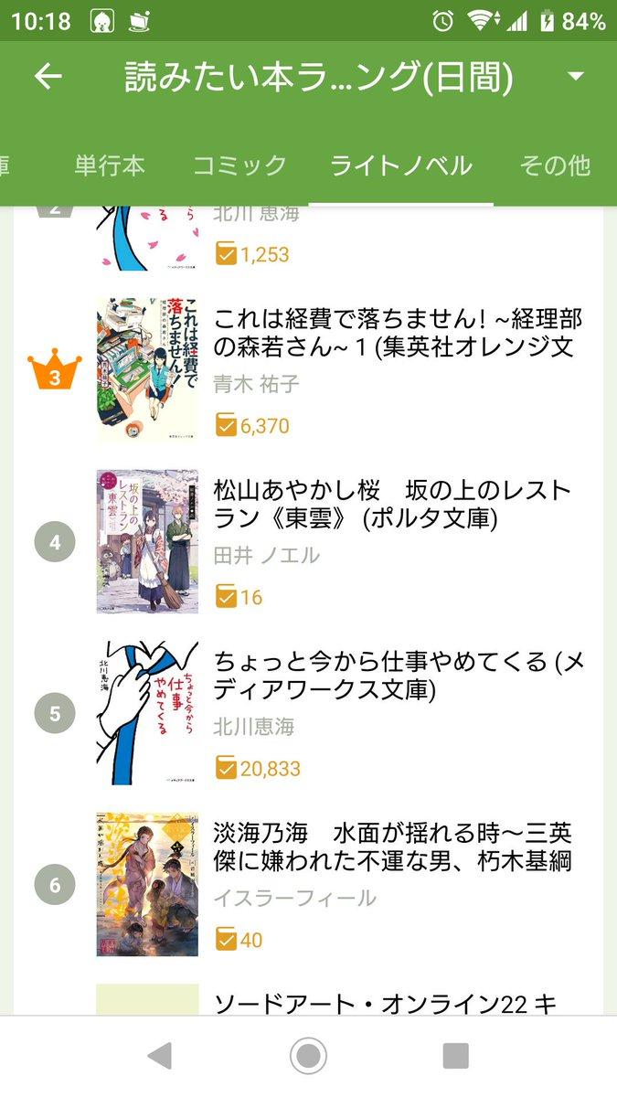 松山あやかし桜 坂の上のレストラン《東雲》(ポルタ文庫)発売前ですが、読書メーター読みたい本ランキングが……✨4位✨に上昇しておりました💕わー……ありがとうございます‼️‼️