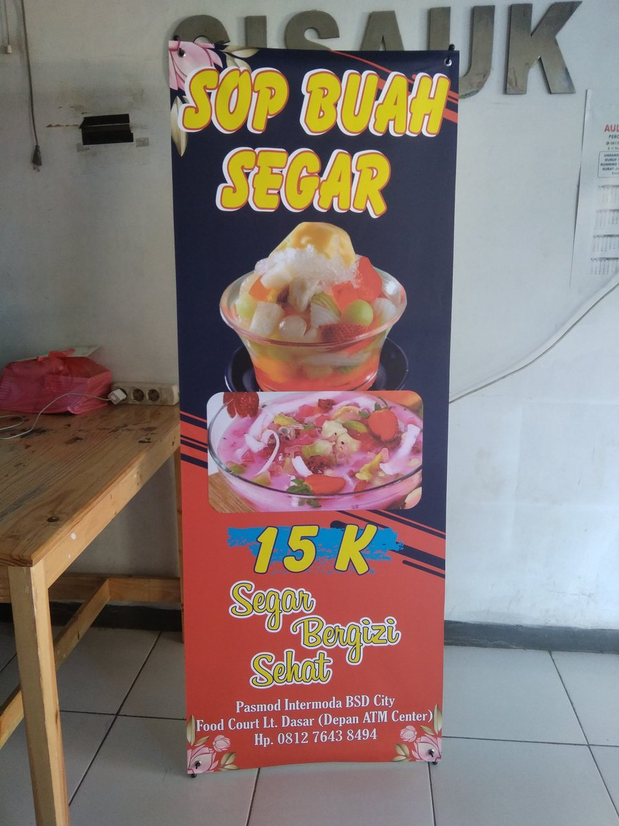 Contoh X Banner Frozen Food - desain spanduk keren