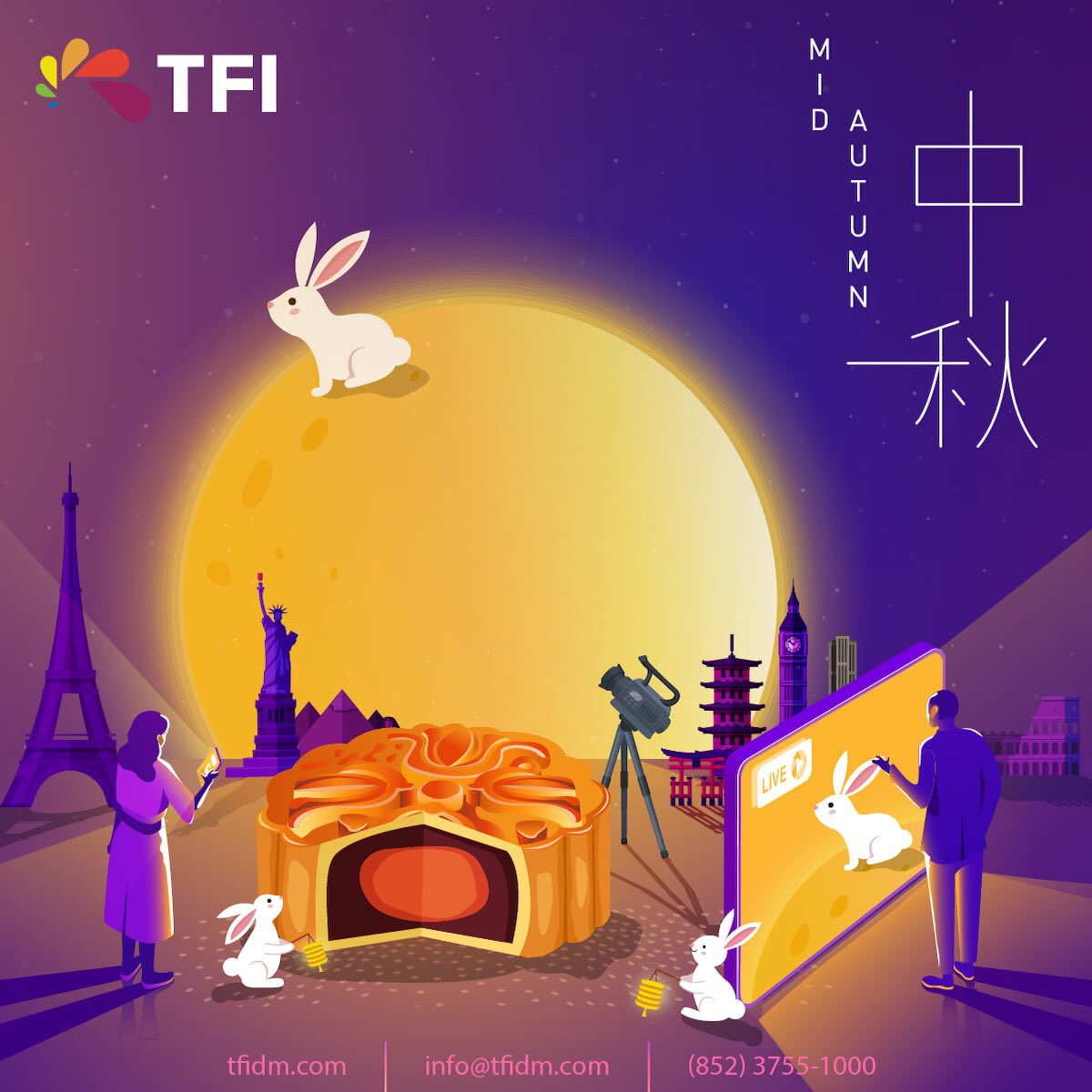 TFI wishes you a blissful Mid-Autumn Festival with joy and happiness!  About HERMESLive: https://t.co/qUGKR6vt95 #天開: https://t.co/k2ua6gAQHD #tfidm #tfi #live #HERMESLive #LiveEncoder #VideoTechnology https://t.co/keXWjFYswr