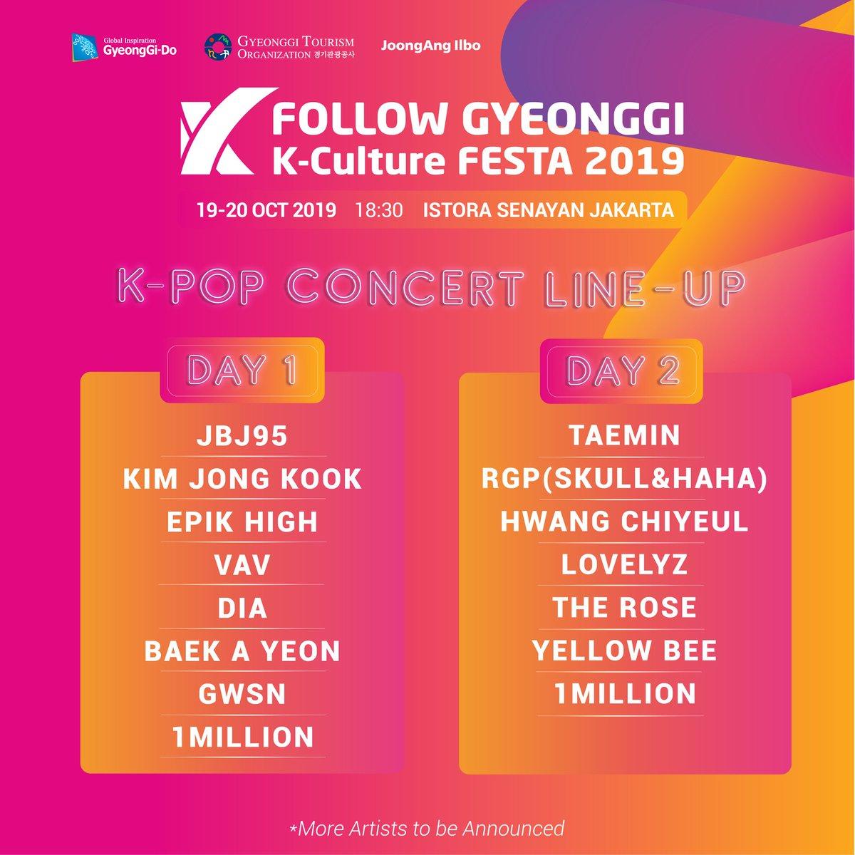 [CONFIRMED] TAEMIN to attend Follow Gyeonggi K-Culture Festa 2019 in Istora Senayan, Jakarta on October 20th.  Ticketing start on September 20th. Follow @/follow.gyeonggi Instagram for more info.   #SHINee #샤이니 #TAEMIN #태민 #テミン<br>http://pic.twitter.com/SXRaQFMvZ9