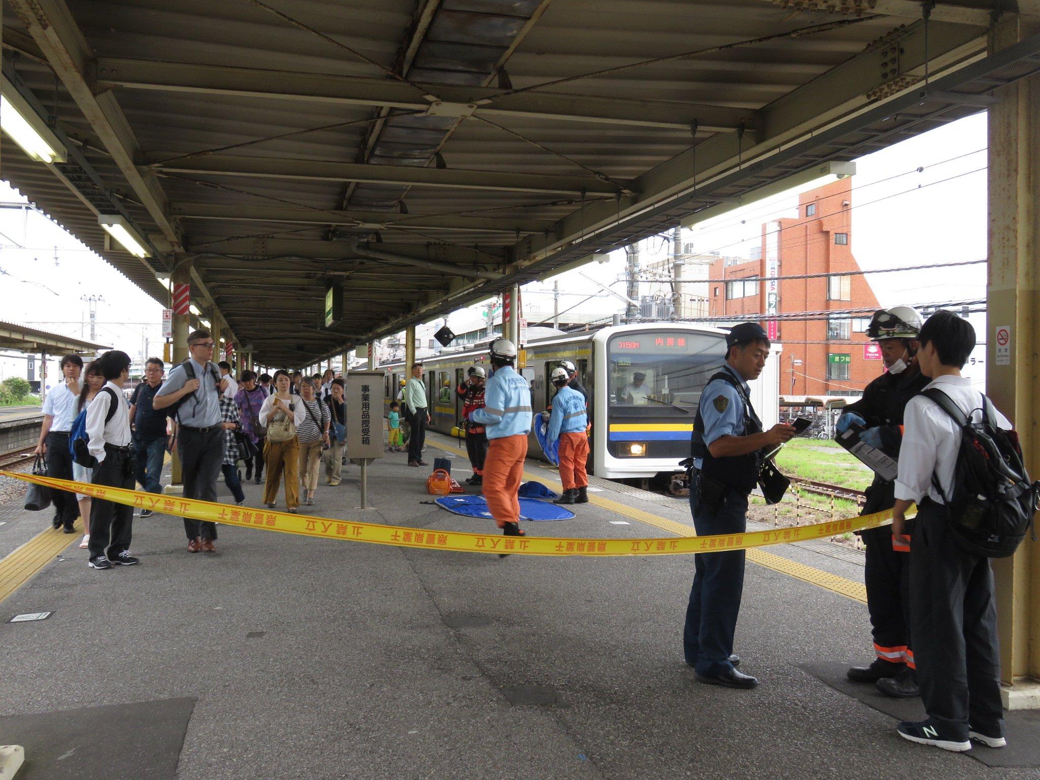 姉ヶ崎駅で人身事故が起きた現場の画像