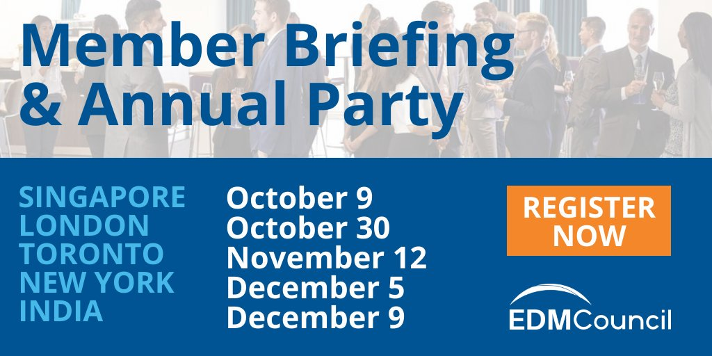 Our Member Briefing & Annual Party is coming to 5 locations! Discuss best practices & the future direction for #DataManagement, along with plenty of networking. Free for all members & industry professionals. Register now:  https:// lnkd.in/gU8CHKB    <br>http://pic.twitter.com/GBPMZd4JG4