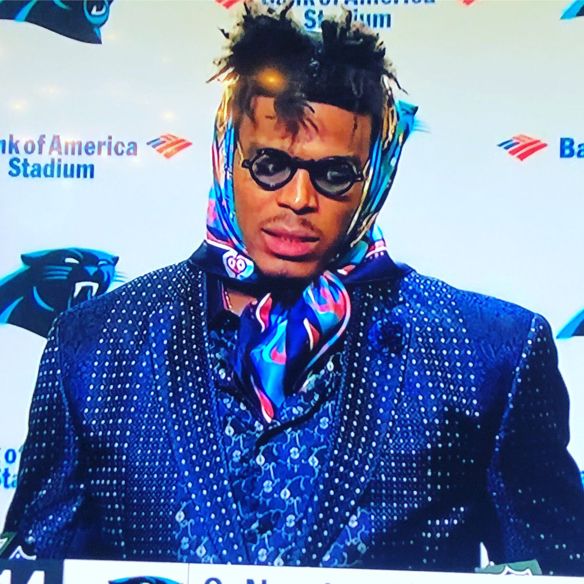 Cam Newton looks like a 44 yr old divorcee who found out she just lost custody of her kids